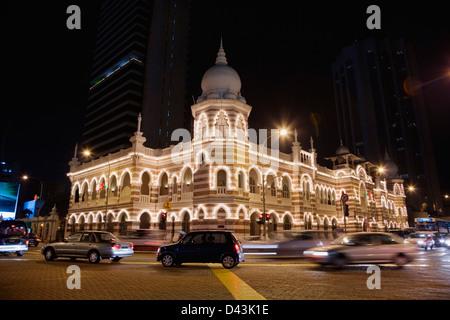 Old City Hall at Merdeka Square at night, Kuala Lumpur, Malaysia - Stock Image
