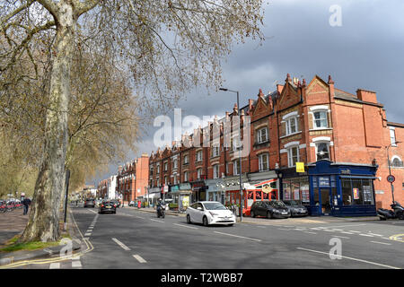 Parsons Green and Fulham London UK - Stock Image