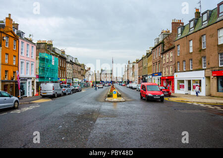 A view of Montrose High Street in Sctoland. - Stock Image