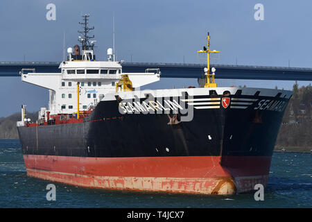 Oil Products Tanker Seamarlin - Stock Image