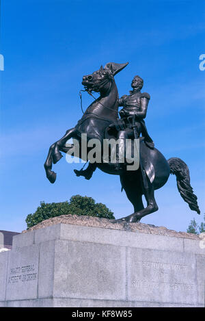 United States Of America New Orleans Louisiana Monument To Andrew Jackson - Stock Image
