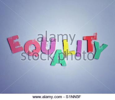 equality (word) - Stock Image