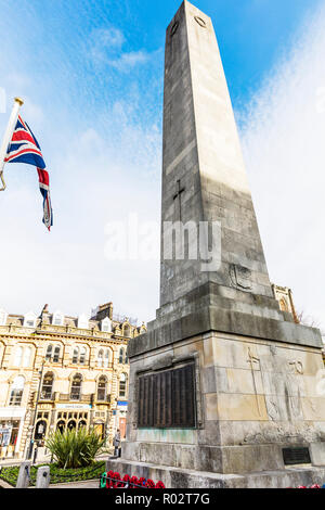 Harrogate Yorkshire UK England, Harrogate, obelisk, War Memorials, Harrogate Obelisk, Harrogate War Memorial, - Stock Image
