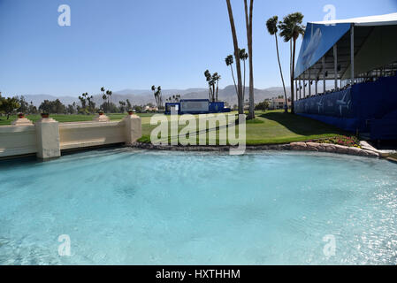 30 March, 2017: scenes from the 18th green during the first round of the ANA Inspiration at the Dinah Shore Tournament - Stock Image