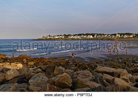 Short Sands beach, York Beach, Maine, USA - Stock Image