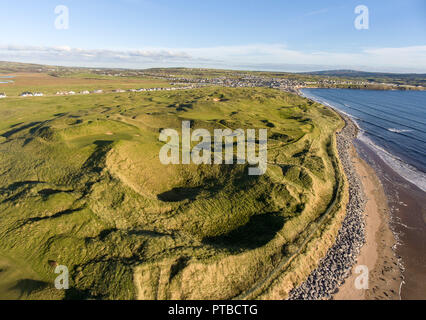 lahinch golf course in county clare ireland. european championship golf links course. 2019 dubai irish open to be held at lahinch . - Stock Image