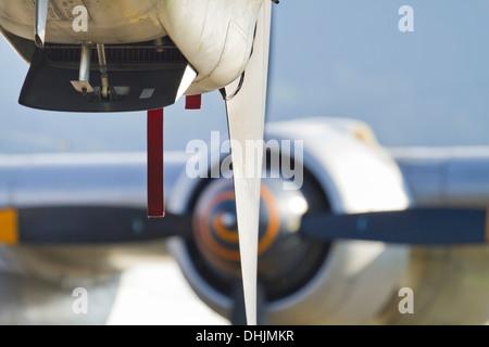 Aircraft propeller engine close up - Stock Image