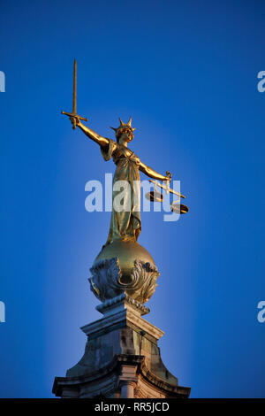 Central Criminal Court, The Old Bailey, City of London, London, England, UK - Stock Image