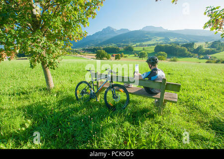 relaxation,recreation,cycling,berchtesgadener land,rupertiwinkel - Stock Image