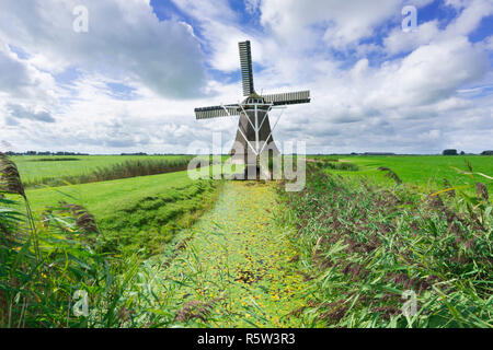 Windmill in the Netherlands - Stock Image