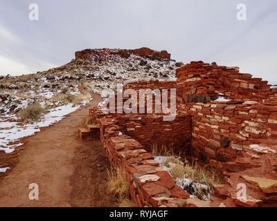 Citadel Ruin, Wupatki National Monument, Arizona. - Stock Image