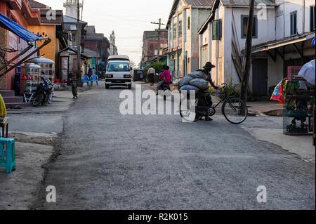 Street scene, Pyin OO Lwin or  Pyin U Lwin, Mandalay Myanmar - Stock Image
