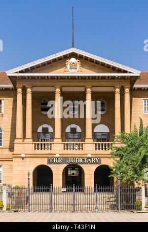 The Supreme Court Judiciary building from KICC square, Nairobi, Kenya - Stock Image