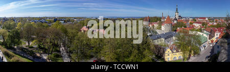 Panoramic View of Tallinn Old Town from Patkuli Overlook - Stock Image