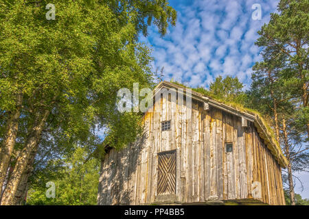 Wooden Building At Sunnmore Museum, Alesund, Norway - Stock Image