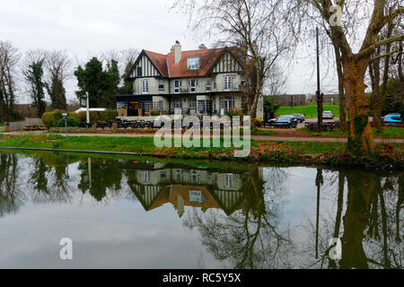 The Wier hotel, Thamesmead, Surrey, United Kingdom - Stock Image
