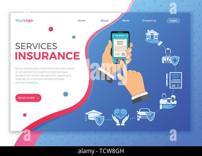 Online Insurance Services Concept - Stock Image