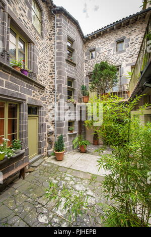 France, South-Western France, Cantal, Saint-Flour, Governor's residence - Stock Image