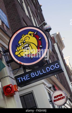 The Bulldog coffeeshop in Amsterdam Holland - Stock Image