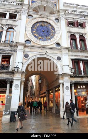 Venice, Italy. St Marks clock tower. - Stock Image