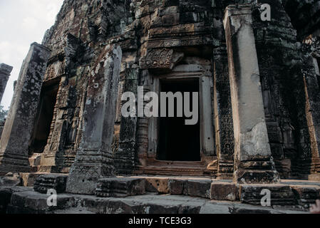 Temple ruins, Angkor Wat, Siem Reap, Cambodia - Stock Image