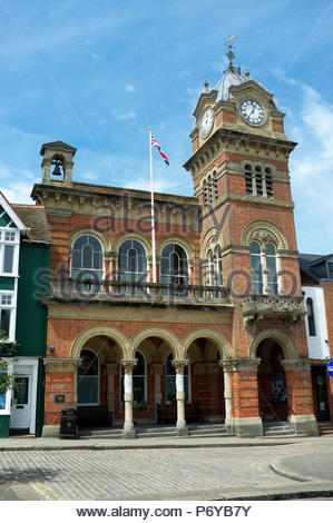 Hungerford Town Hall & Corn Exchange, in Hungerford, Berkshire, UK. - Stock Image