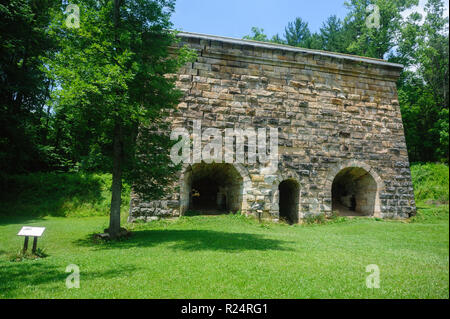 The Fitchburg Furnace.  The world's largest charcoal iron furnace. - Stock Image