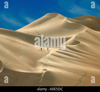 Sand Boarding Near Ica, Peru, South America - Stock Image
