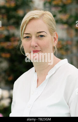 Hay Festival, Hay on Wye, Powys, Wales, UK - Wednesday 29th May 2019 - Author Jayne Jaso at the Hay Festival to talk about her book From Seven to the Sea.  Photo Steven May / Alamy Live News - Stock Image