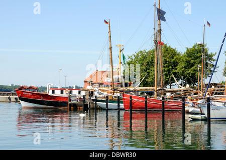 Hafen von Laboe, Schleswig-Holstein, Deutschland, Europa.   Port of Laboe, Schleswig-Holstein, Germany, Europe. - Stock Image