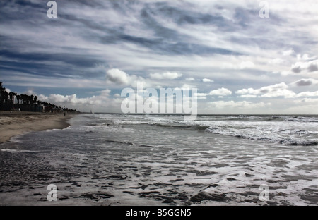 USA The day after a big storm at Oceanside Beach in California - Stock Image