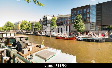 The Anne Frank House in Amsterdam, The Netherlands - Stock Image