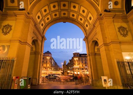 Switzerland Zurich railway station at twilight Portal - Stock Image