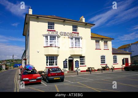 The George inn, West Bay, Dorset, England - Stock Image