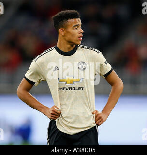 Optus Stadium, Perth, Western Australia. 13th July, 2019. Pre-season friendly football, Perth Glory versus Manchester United; Mason Greenwood of Manchester United Credit: Action Plus Sports/Alamy Live News - Stock Image