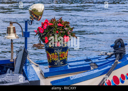 Bargeware On A Boat,  Henley On Thames, Oxfordshire, UK - Stock Image