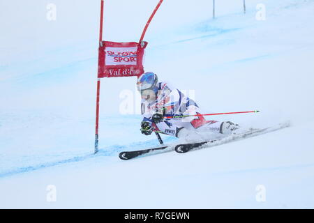 08 December 2018 Val d'Isère, France. Alexis Pinturault of Courchevel, France competing in Giant Slalom for the Audi Fis Alpine Ski World Cup 2019 - Stock Image