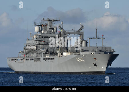 Combat support ship A1411 Berlin - Stock Image