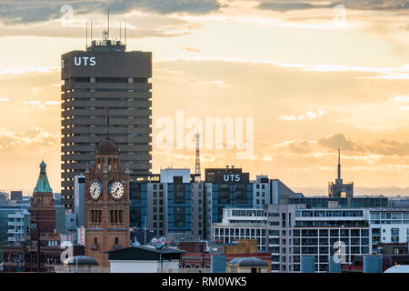 Evening sky in Sydney. - Stock Image