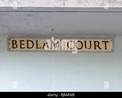 Bedlam Court street sign - Stock Image