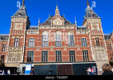 Amsterdam, Netherlands - April 2019; Central Station - Stock Image