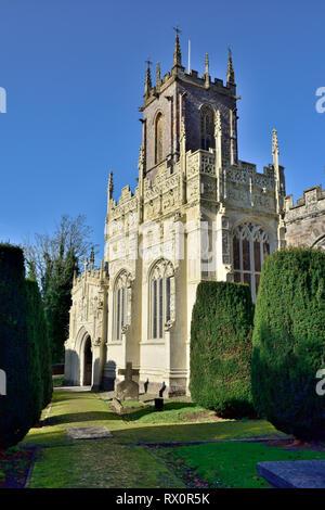 Front of St. Peter's Church, Tiverton, Devon, UK - Stock Image