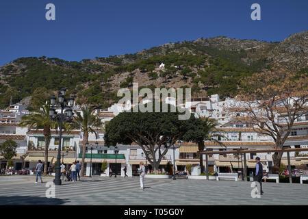 Plaza Virgen de La Peña. Mijas, Málaga, Spain. - Stock Image