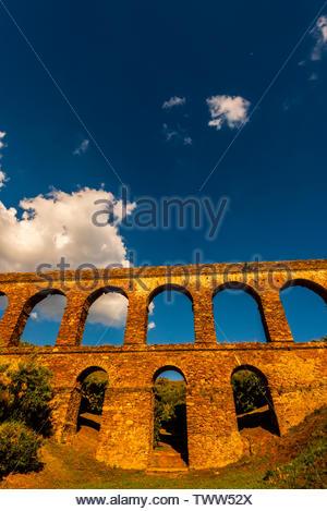A Roman Aqueduct, Almunecar, Costa Tropical, Granada Province, Andalusia, Spain. - Stock Image