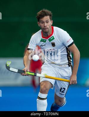 Krefeld, Germany, 12.06.2019, Hockey, FIH Pro League, men, Germany vs. Belgium: Timm Herzbruch (Germany) in action. - Stock Image