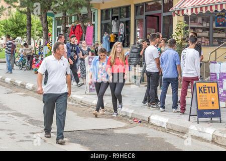Prenjass village market Albania - Stock Image