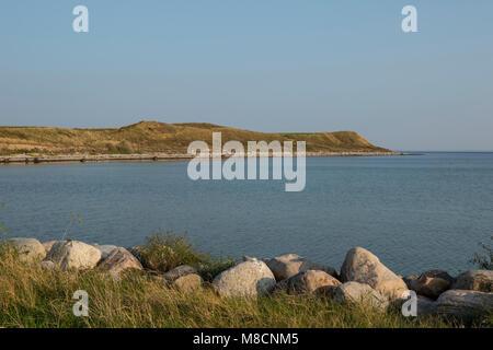 Hills on southwest Sejerø - Stock Image