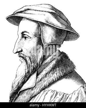 Johannes calvin - Stock Image