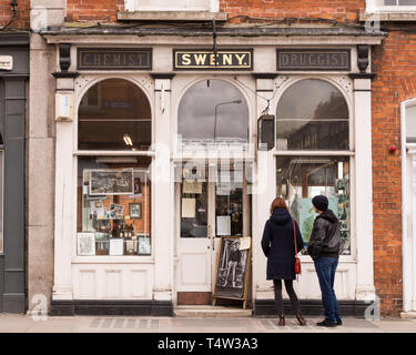 Sweny's - the Dublin pharmacy - now a museum -  featured in James Joyce's Ulysses - Stock Image