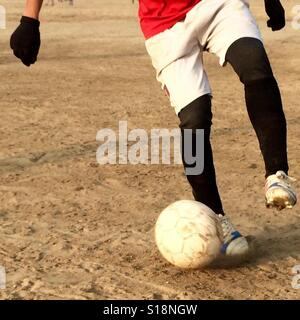 Football in the park - Stock Image